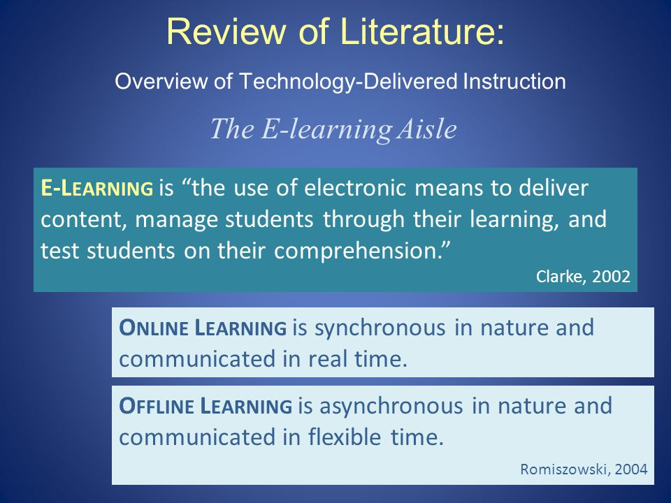 Review of Literature: Overview of Technology-Delivered Instruction WBT: An old product with new packaging W EB - BASED T RAINING (WBT) is a combination of online and offline learning.