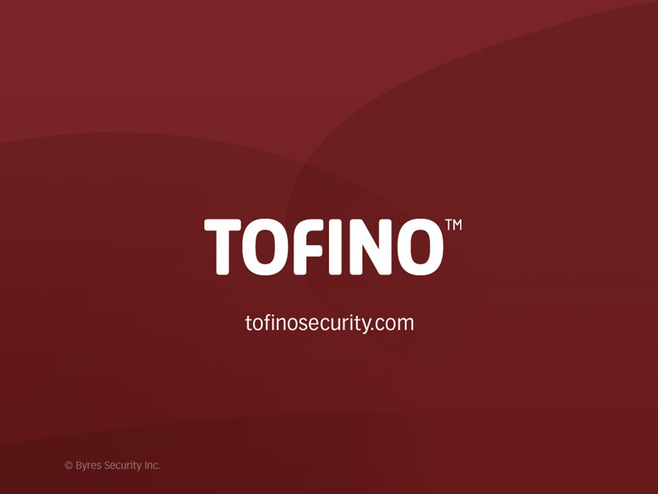 Tofino OPC Enforcer LSM Available Now Requirements: Tofino Security Appliance Tofino Central Management Platform version 1.6 or better Tofino Firewall LSM Additional Resources: www.tofinosecurity.com/opc OPC Foundation Endorsed White Paper, Securing Your OPC Classic Control System Ordering the Tofino OPC Enforcer