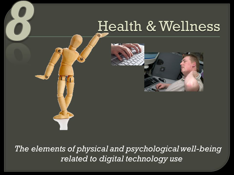 The elements of physical and psychological well-being related to digital technology use