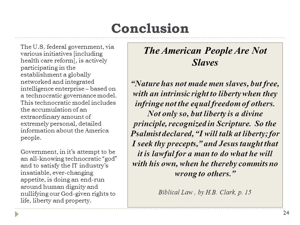 Conclusion 24 The U.S.