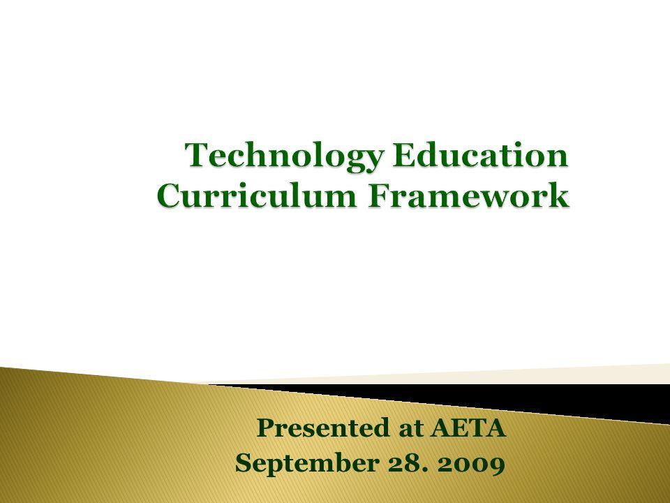 Presented at AETA September 28. 2009