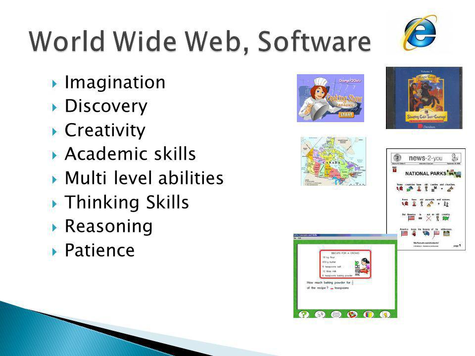 Imagination Discovery Creativity Academic skills Multi level abilities Thinking Skills Reasoning Patience
