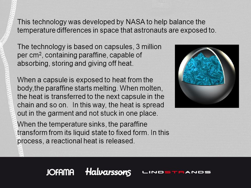 This technology was developed by NASA to help balance the temperature differences in space that astronauts are exposed to. The technology is based on