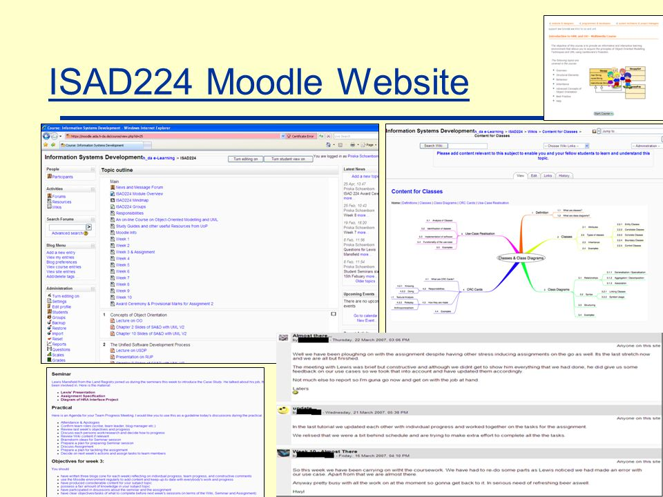 ISAD224 Moodle Website