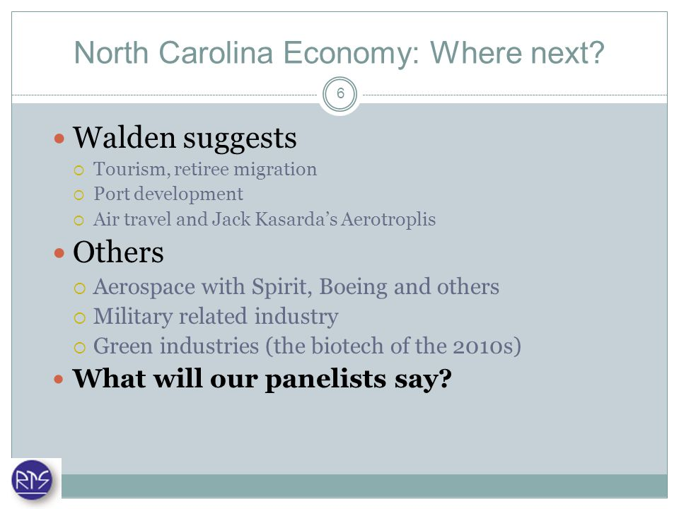 North Carolina Economy: Where next.