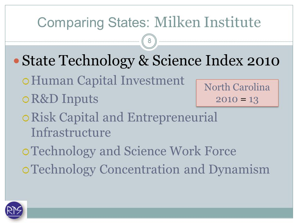 Comparing States: National Science Board Science & Engineering Indicators 2010 Elementary/Secondary & Higher Education Workforce Financial R&D Inputs R&D Outputs Science & Technology in the Economy 9