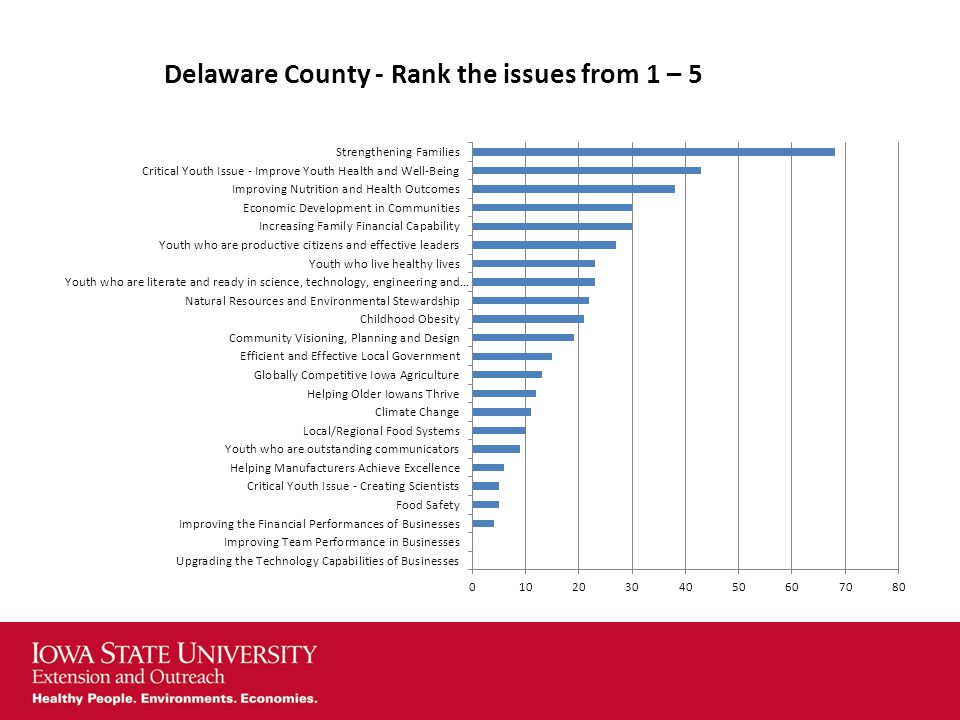 Delaware County - Rank the issues from 1 – 5