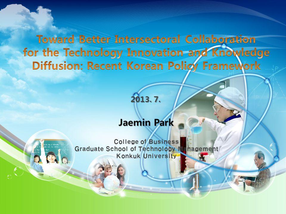 2013. 7. Jaemin Park College of Business Graduate School of Technology Management Konkuk University