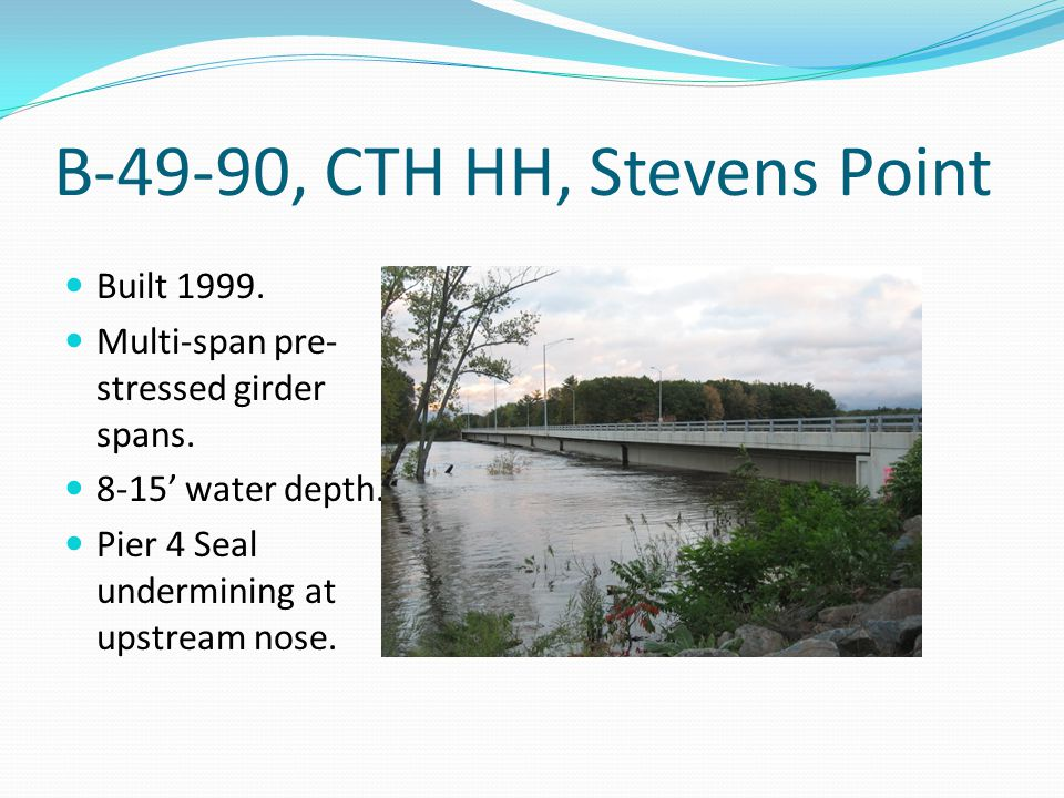 B-49-90, CTH HH, Stevens Point Built 1999. Multi-span pre- stressed girder spans.