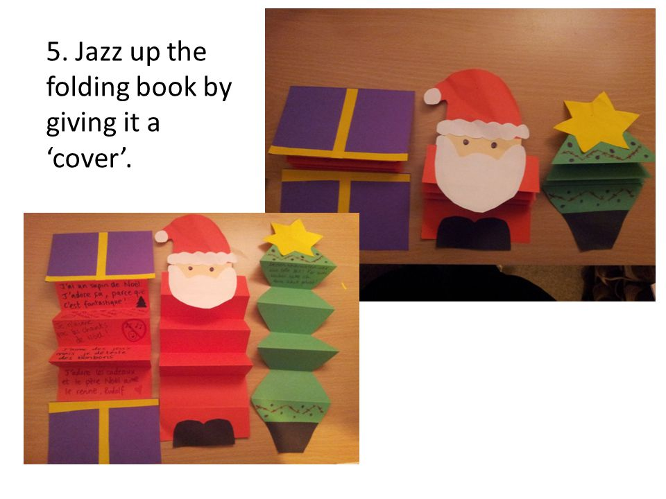 5. Jazz up the folding book by giving it a cover.