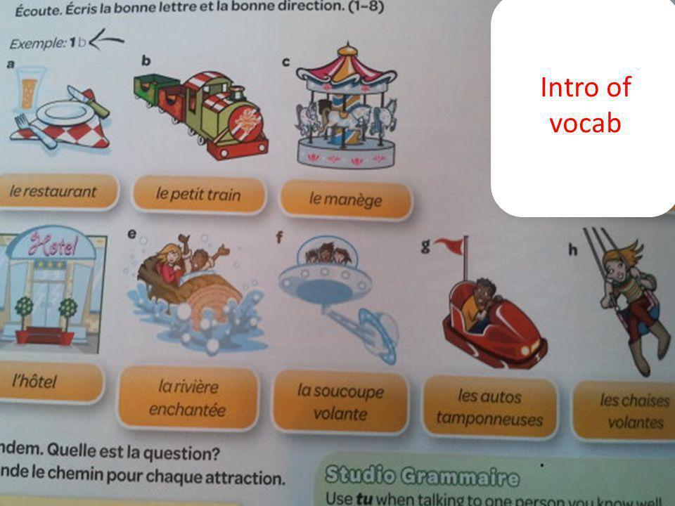 Intro of vocab