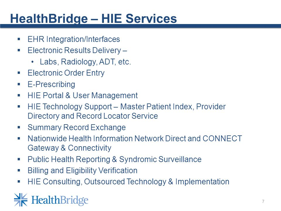 8 HealthBridge – Future Plans REC - Expanded Meaningful Use Assistance for Stages 2-3 Beacon - Enhanced Suite of Quality Improvement, Care Transformation and Accountable Care Services and Tools (Data Warehouse, Data Analytics, Summary Patient Records, etc.) Patient Engagement - Connectivity to Personal Health Records, Mobile Technologies and Consumer Technologies (Beacon, IN Challenge Grant) HIE Expansion – Connect to new providers and stakeholders for improving continuity of care (home health, long-term care, payers, etc.) Connect with State HIEs and Provider Networks (IN, KY, OH) Use Nationwide Health Information Network (NwHIN) Direct and CONNECT platforms Spread of Advanced Technologies to Other Communities Community Credentialing