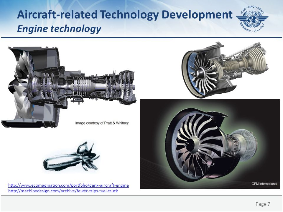 Page 7 Aircraft-related Technology Development Engine technology http://www.ecomagination.com/portfolio/genx-aircraft-engine http://machinedesign.com/