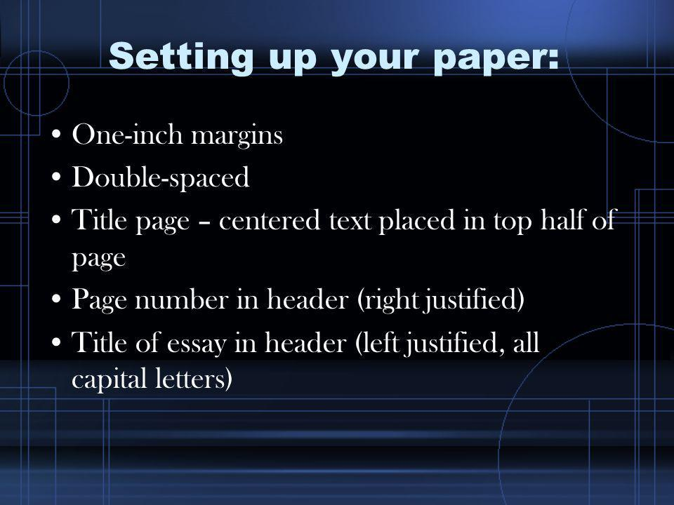 Breakdown of APA Title page Parenthetical citations Reference page