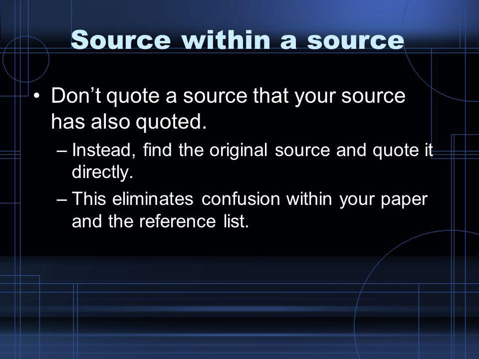 How do citations work.They direct your reader to your reference page.