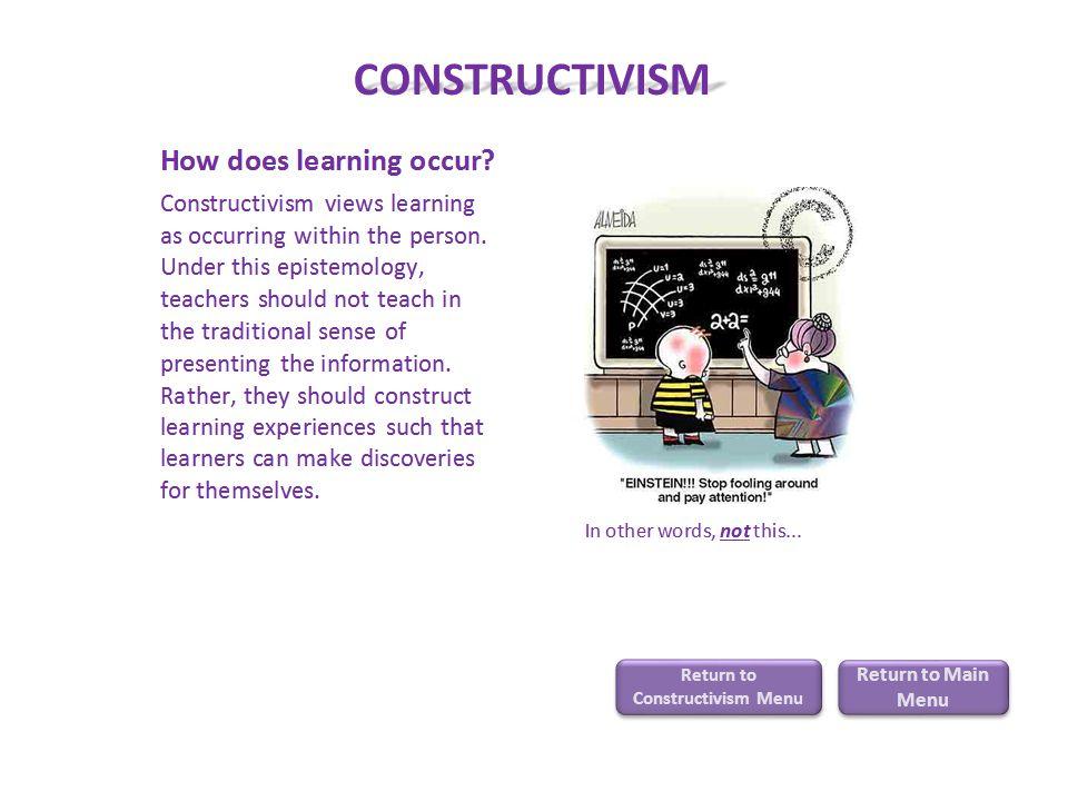CONSTRUCTIVISM Return to Constructivism Menu Return to Constructivism Menu Return to Main Menu Return to Main Menu