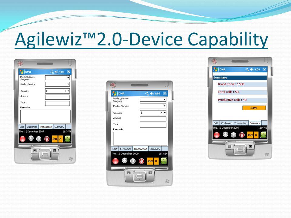 Agilewiz2.0-Device Capability