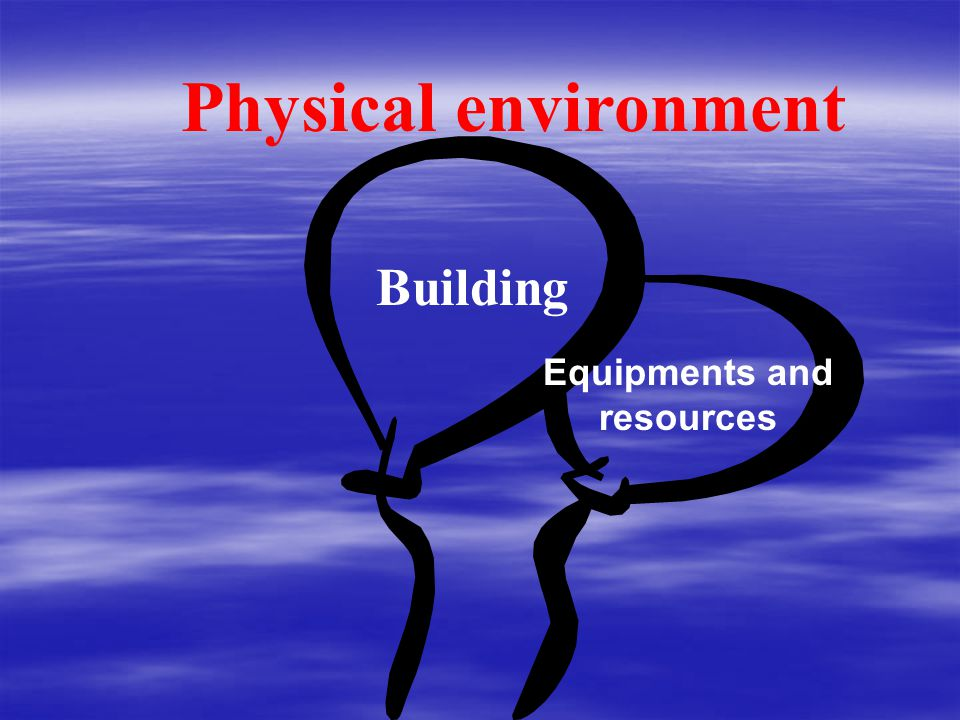 Building Equipments and resources Physical environment