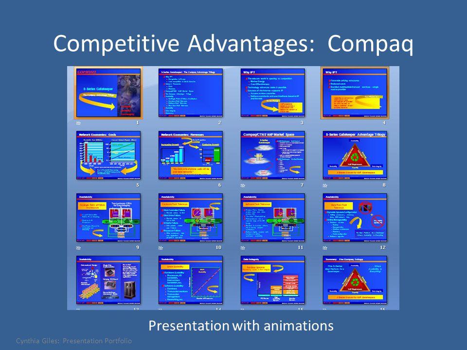 Competitive Advantages: Compaq Presentation with animations Cynthia Giles: Presentation Portfolio