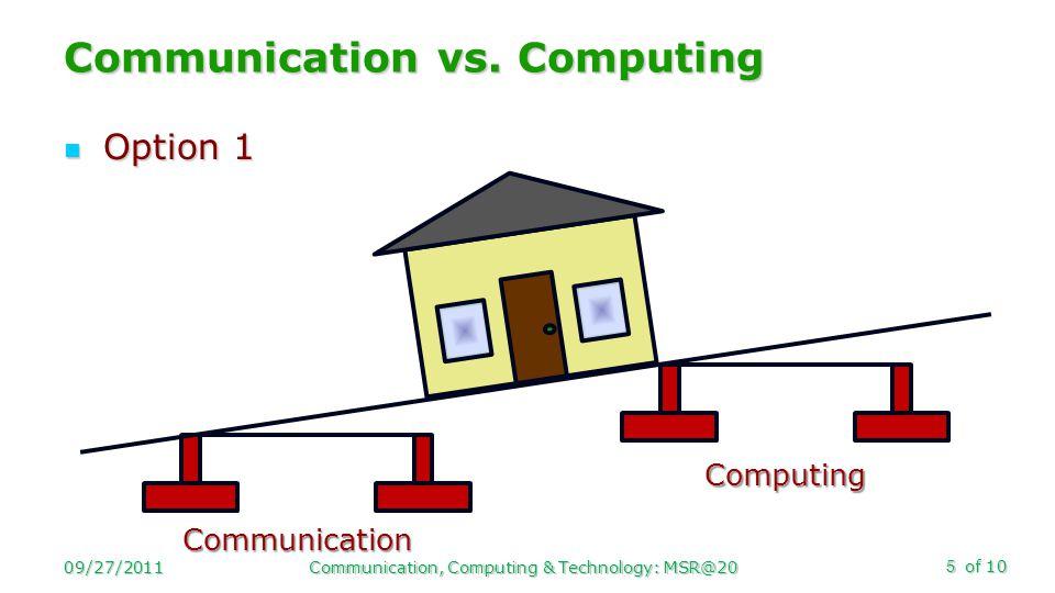 of 10 Option 1 Option 1 Communication vs.
