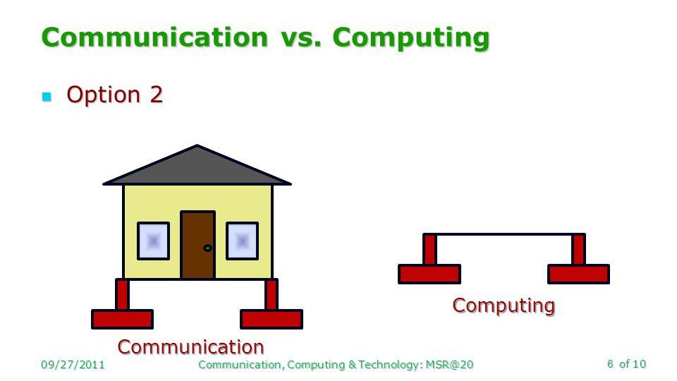 of 10 Option 2 Option 2 Communication vs.