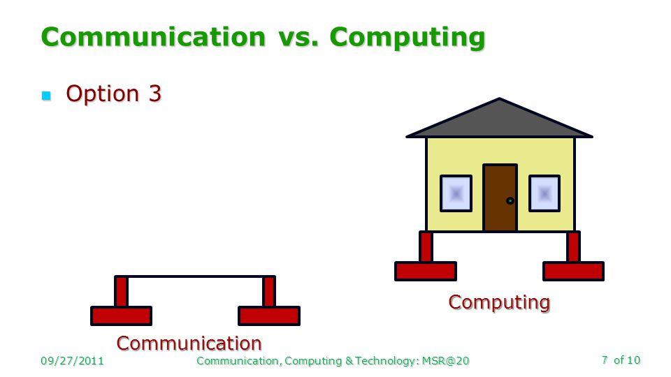 of 10 Option 3 Option 3 Communication vs.