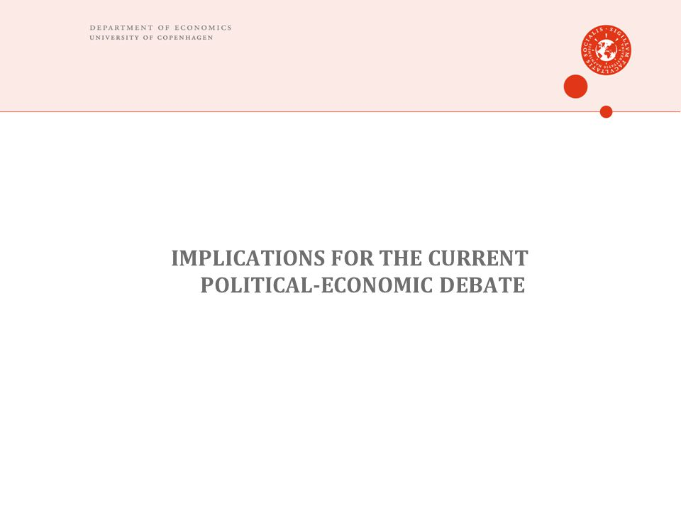 IMPLICATIONS FOR THE CURRENT POLITICAL-ECONOMIC DEBATE