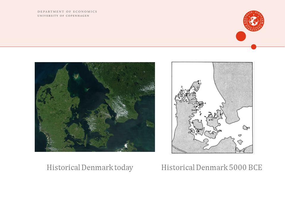 Historical Denmark todayHistorical Denmark 5000 BCE