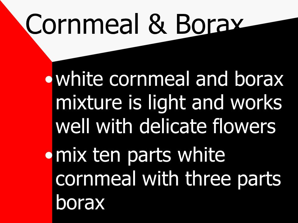 borax can be purchased in the laundry section of any grocery store drying time is one to two weeks
