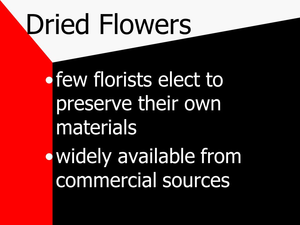 dries quickly and flowers retain more of their natural colors may be purchased at a hobby or discount store that carries crafts