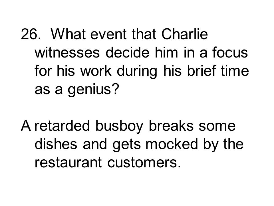 A retarded busboy breaks some dishes and gets mocked by the restaurant customers.