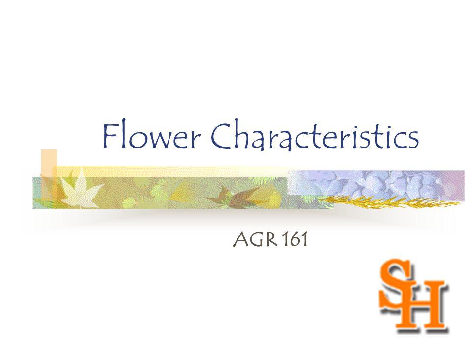 Flower Characteristics AGR 161
