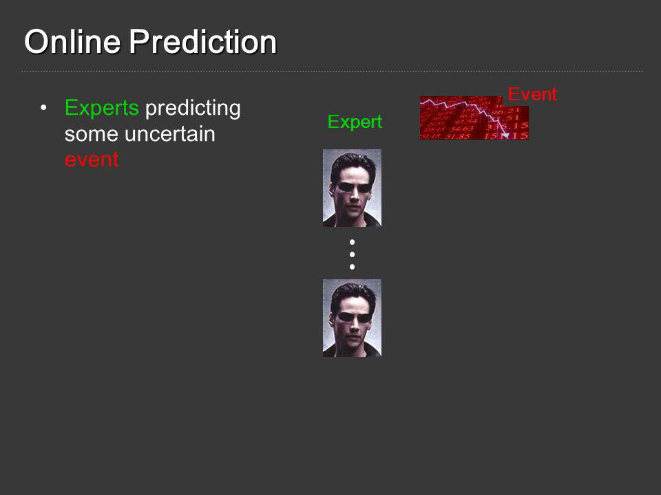 Experts predicting some uncertain event Expert Event