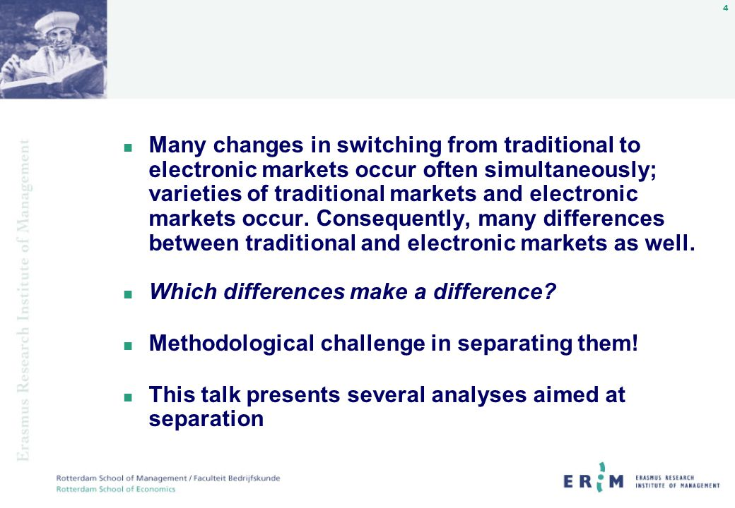 5 First study: Reengineering the Dutch Flower Auctions n what are the characteristics and effects of the four electronic auction initiatives in the Dutch flower industry.