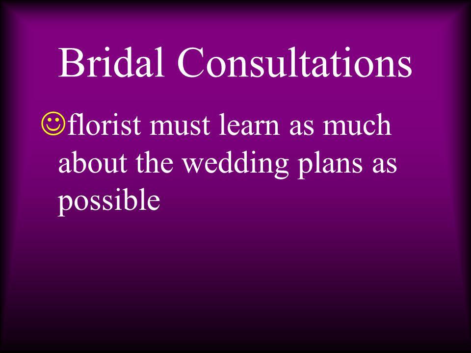 m ay include looking at ribbon samples p hoto albums of sample wedding work