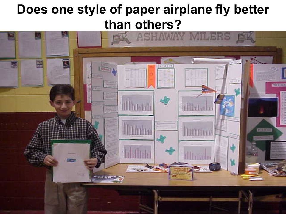 Does one style of paper airplane fly better than others?