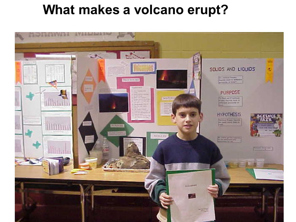 What makes a volcano erupt