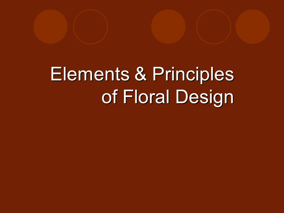 Elements & Principles of Floral Design