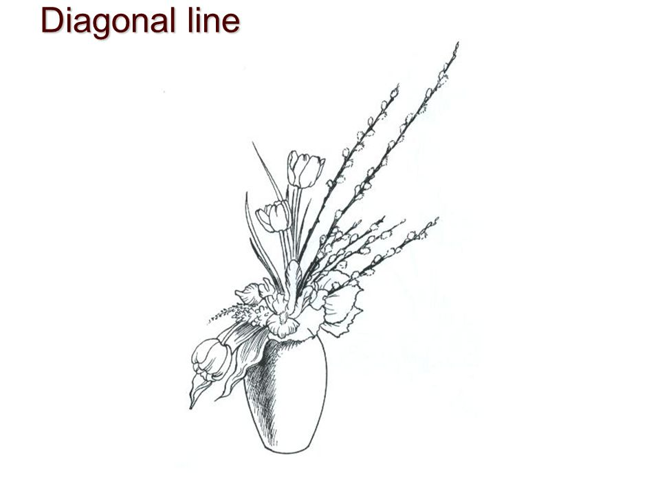 Diagonal line Diagonal lineDynamically energetic, suggest motion