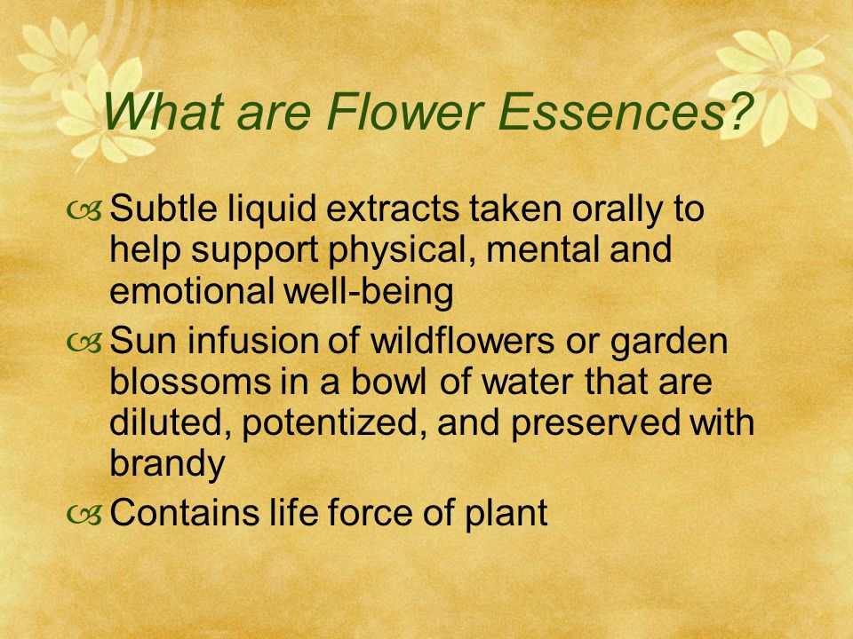 What are Flower Essences.