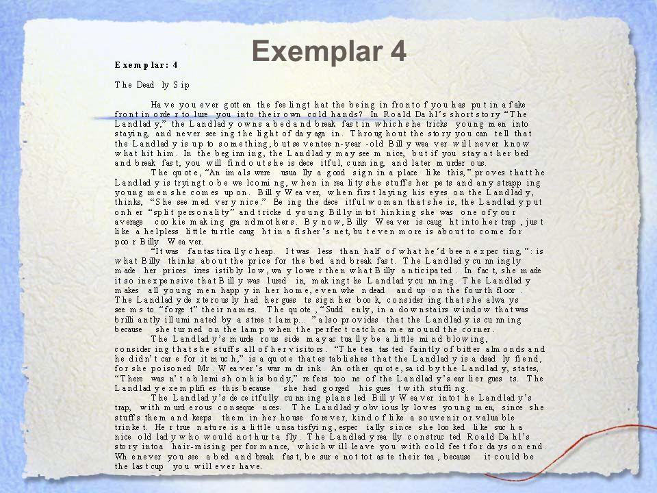 exemplar expository essay