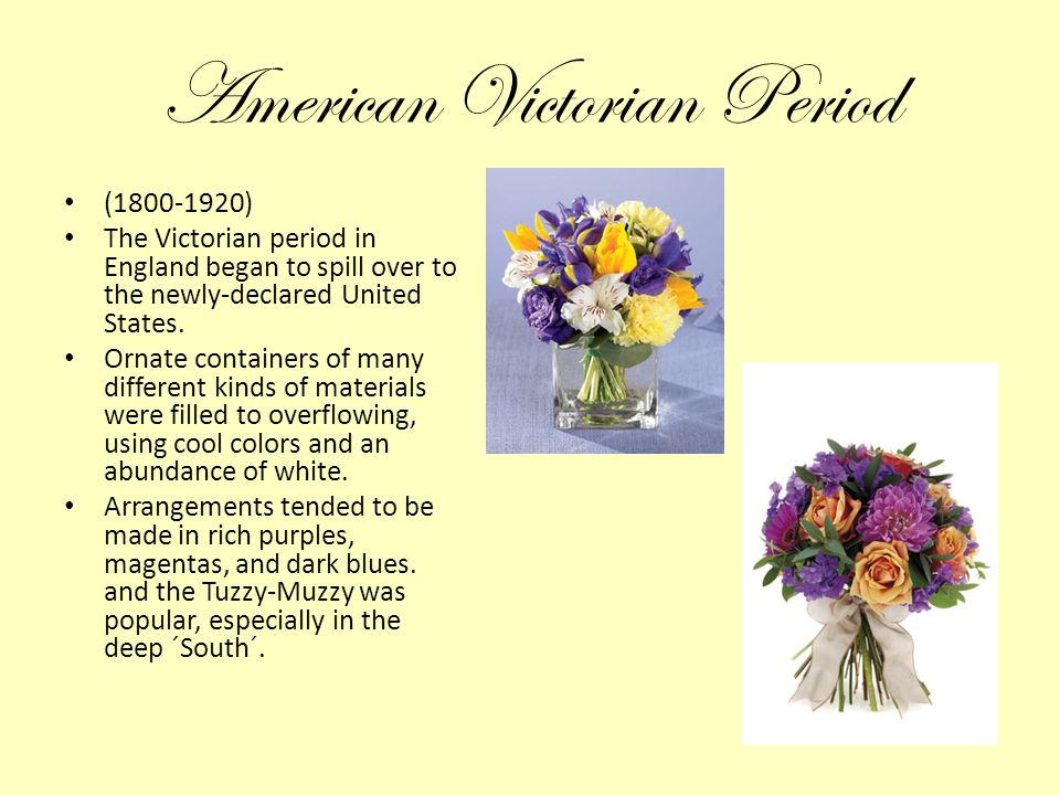 American Victorian Period (1800-1920) The Victorian period in England began to spill over to the newly-declared United States. Ornate containers of ma