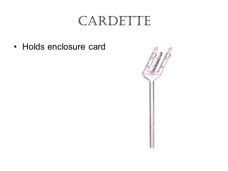 Cardette Holds enclosure card