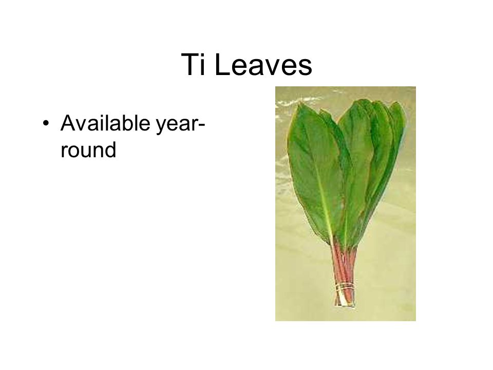 Ti Leaves Available year- round