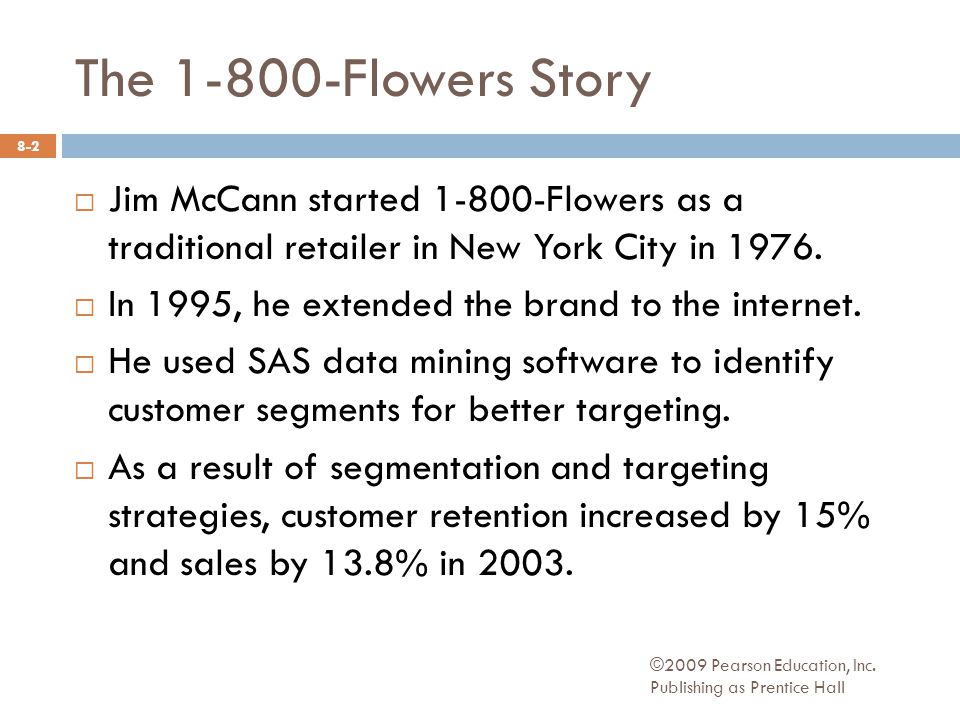 Jim McCann started Flowers as a traditional retailer in New York City in 1976.