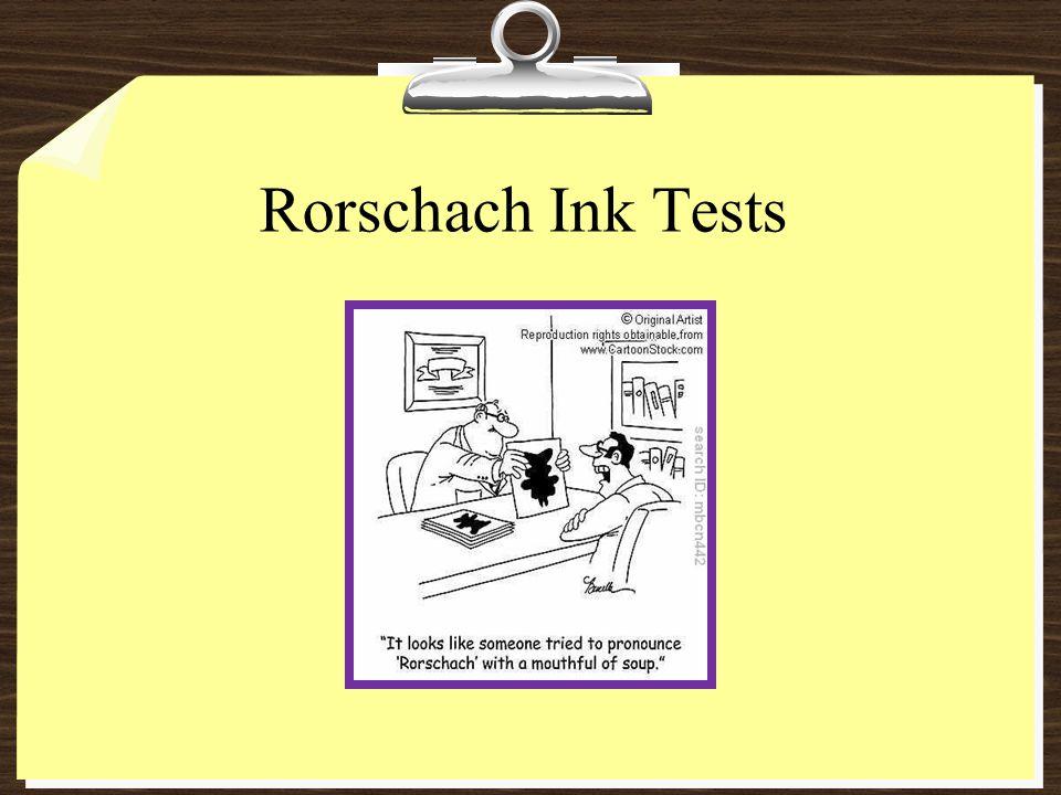 Rorschach Ink Tests