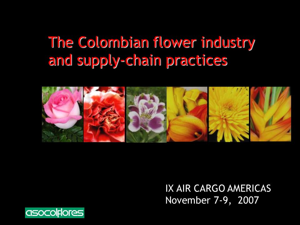 The Colombian flower industry and supply-chain practices IX AIR CARGO AMERICAS November 7-9, 2007