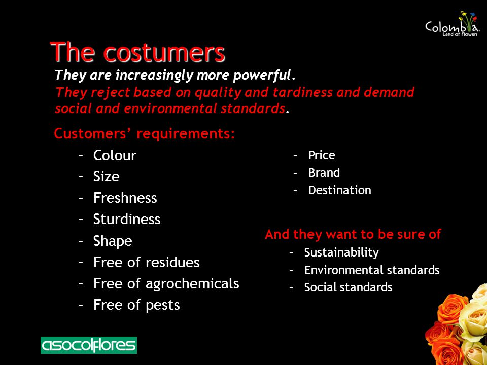 The costumers They are increasingly more powerful.