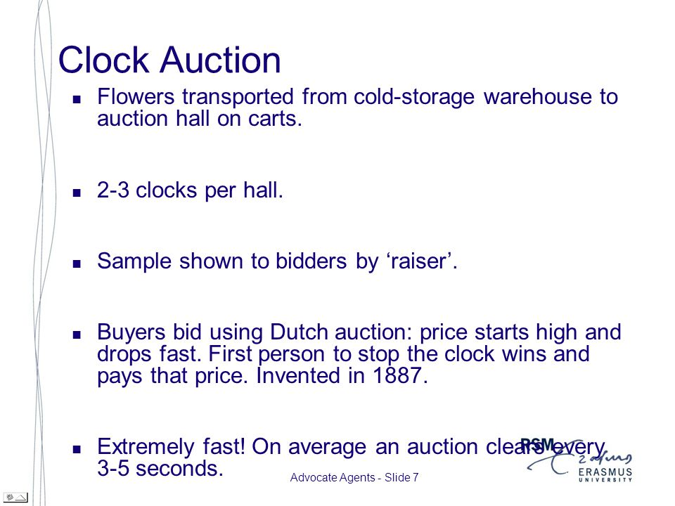 Advocate Agents - Slide 8 Clock Auction cont.