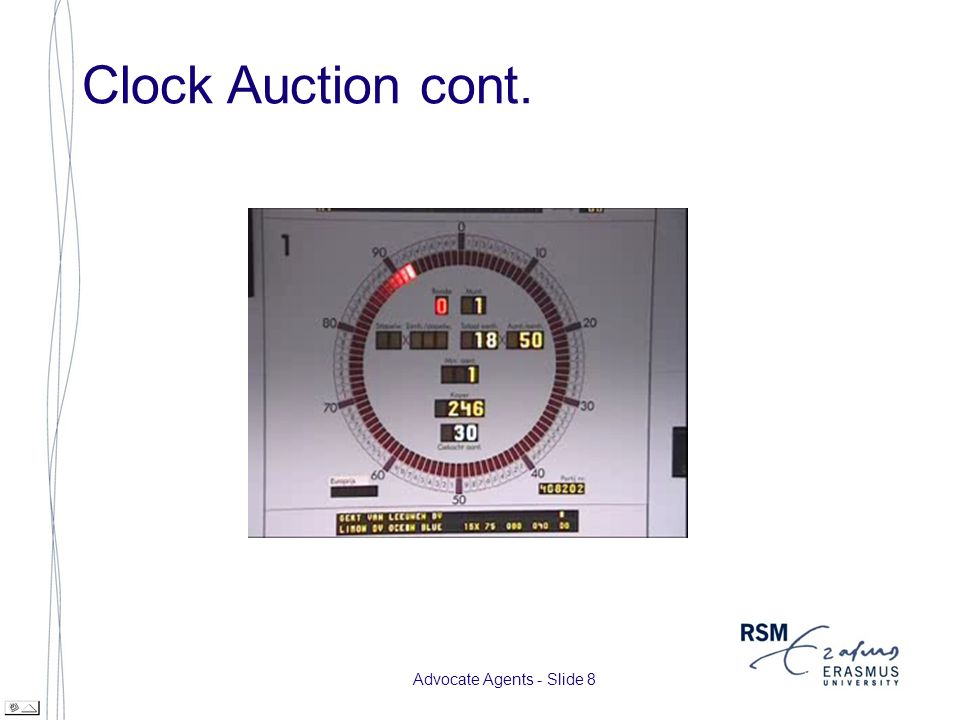 Advocate Agents - Slide 9 Clock Auction cont.